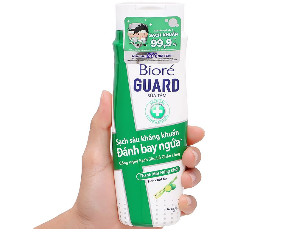 Sữa tắm sạch sâu kháng khuẩn Bioré thanh mát hứng khởi 220g 4