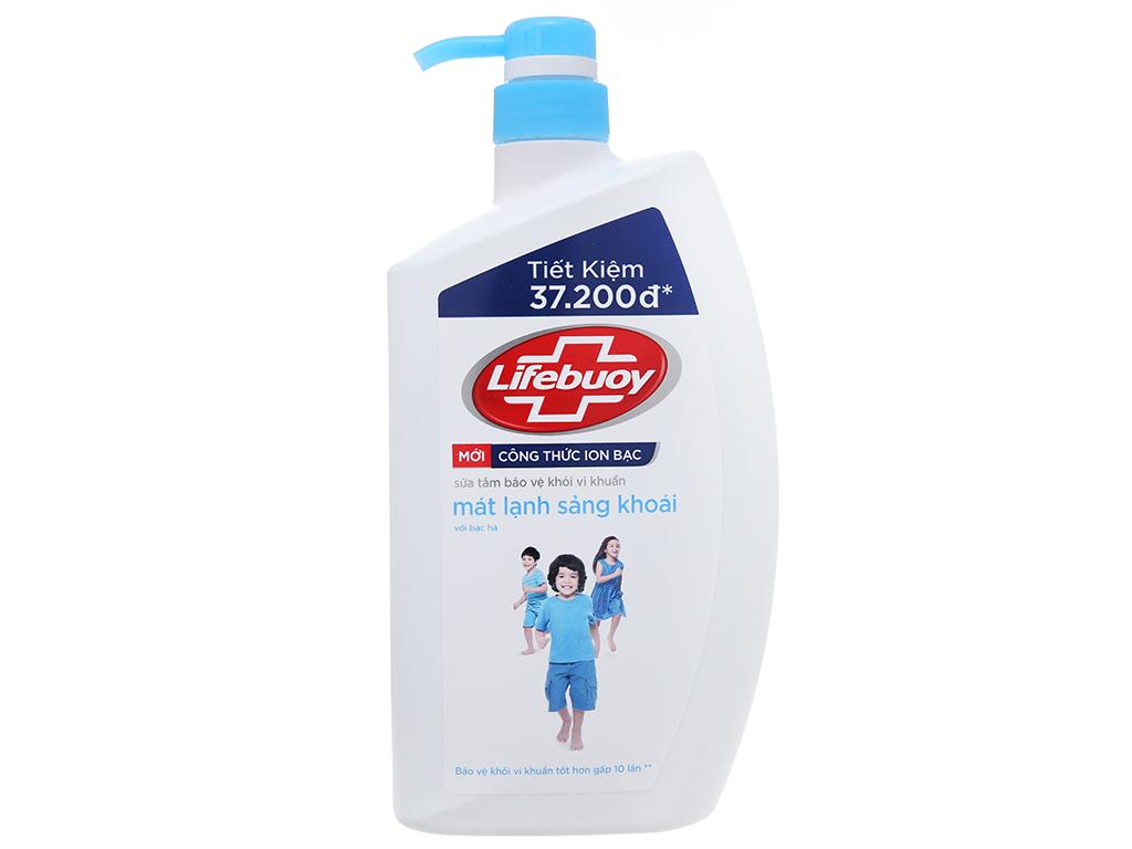 Sữa tắm bảo vệ khỏi vi khuẩn Lifebuoy mát lạnh sảng khoái 833ml 2
