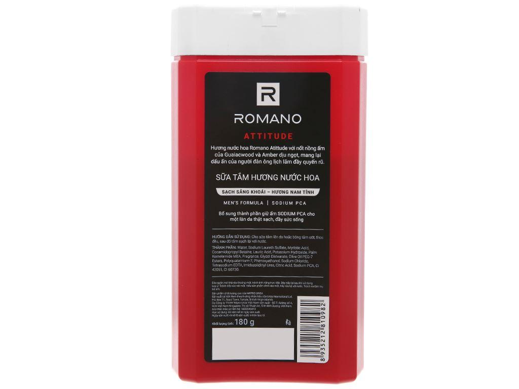 Sữa tắm nước hoa Romano Attitude sạch sảng khoái 180g 2