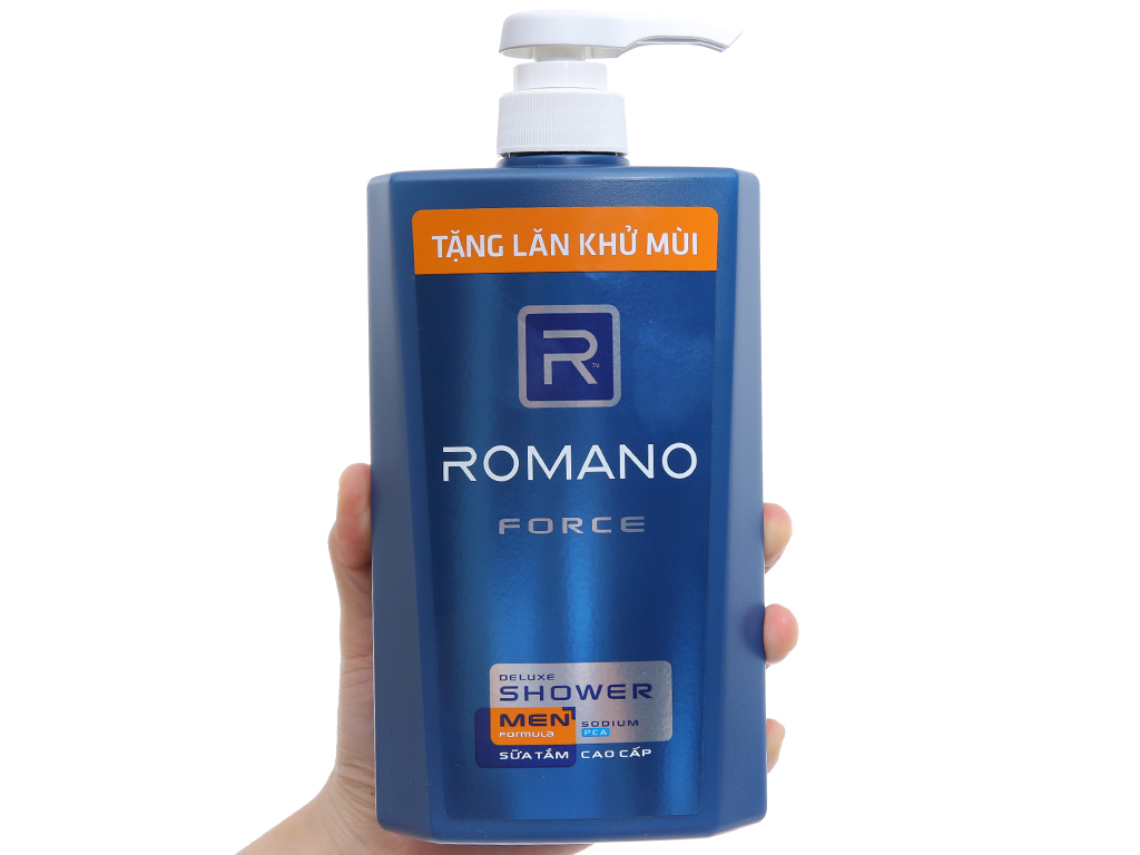 Sữa tắm Romano Force 650g 6
