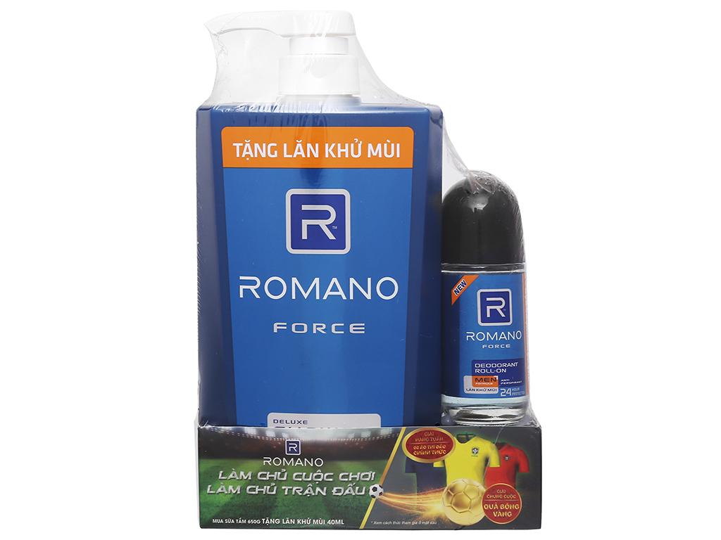 Sữa tắm cao cấp Romano Force 650g 1