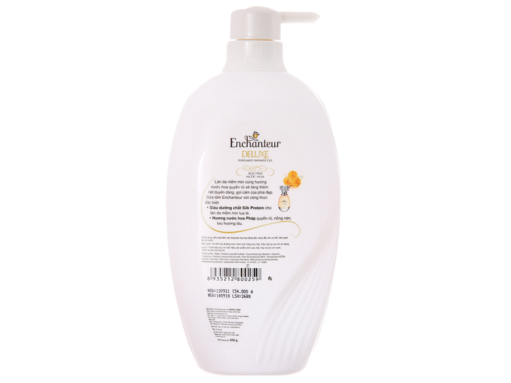 Sữa tắm Enchanteur hương nước hoa Pháp 650g 3