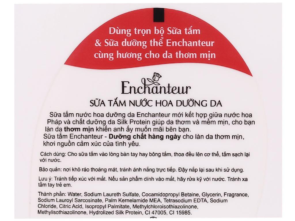 Sữa tắm nước hoa dưỡng da Enchanteur Deluxe Charming 650g 4