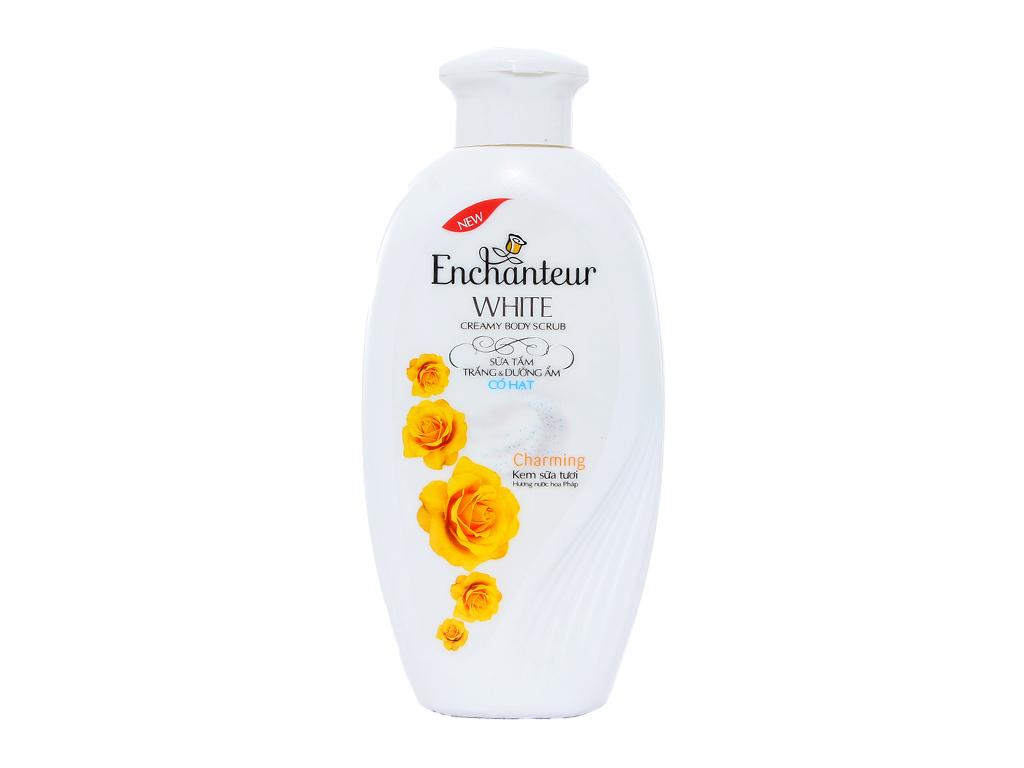 Sữa tắm có hạt Enchanteur trắng và dưỡng ẩm có hạt 180g 1