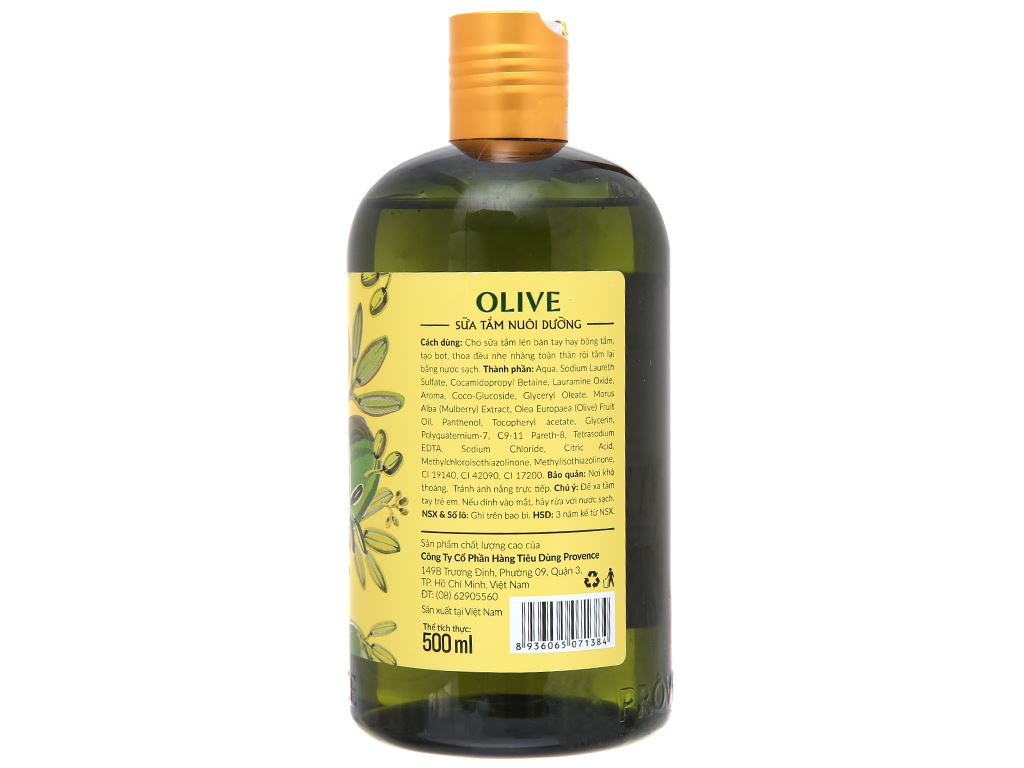 Sữa tắm nuôi dưỡng Purité dầu Ôliu nguyên chất 500ml 3