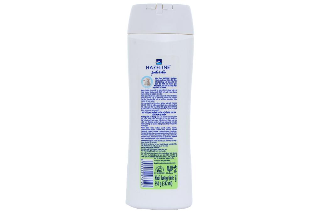 Sữa tắm Hazeline Spotless White 350g