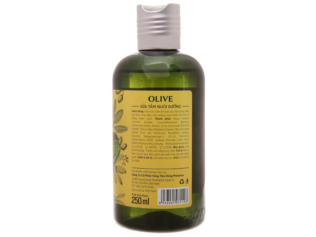 Sữa tắm Purité by Provence olive nuôi dưỡng 250ml 3