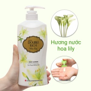 Sữa tắm trắng da hoa lily Double Rich White Purity 550g