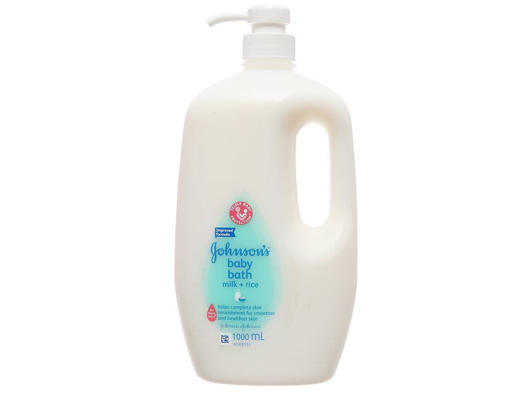 Gel tắm cho bé Johnson's Baby milk & rice 1L 2