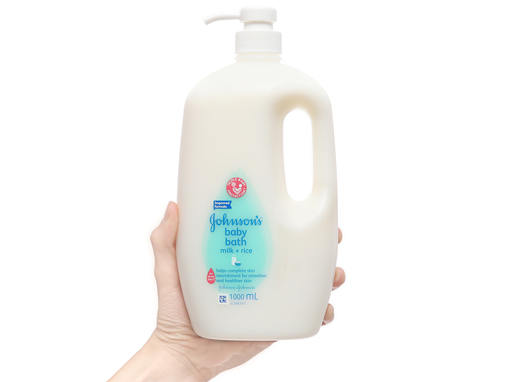 Gel tắm cho bé Johnson's Baby milk & rice 1L 4