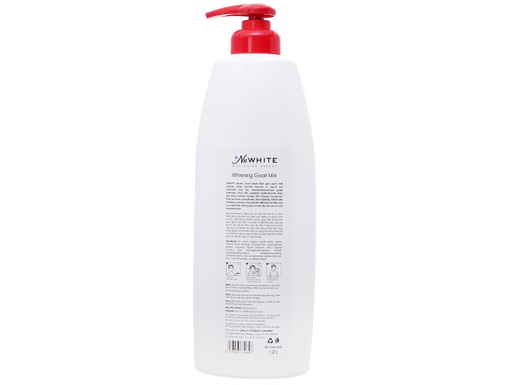 Sữa tắm trắng da NuWhite tinh chất sữa dê hương dâu 1.2 lít 3