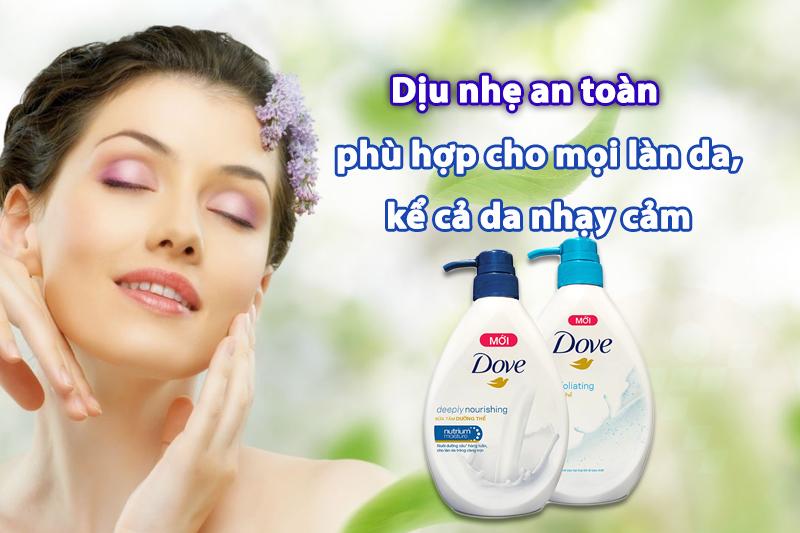 Sữa tắm Dove dưỡng thể thấm sâu 530g