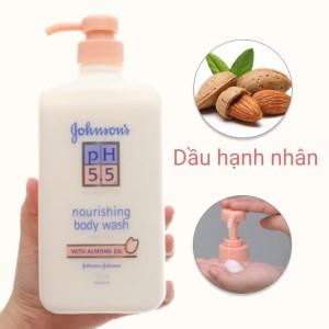 Sữa tắm Johnson's pH 5.5 dưỡng thể dầu hạnh nhân 750ml
