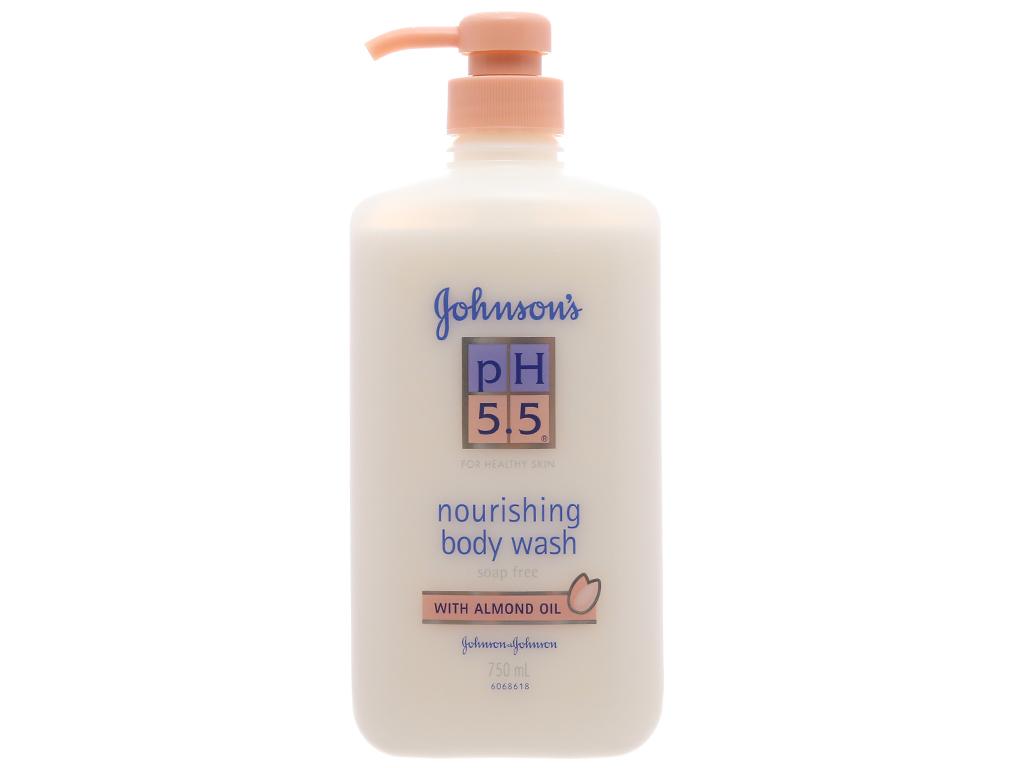 Sữa tắm Johnson's pH 5.5 dưỡng thể dầu hạnh nhân 750ml 2