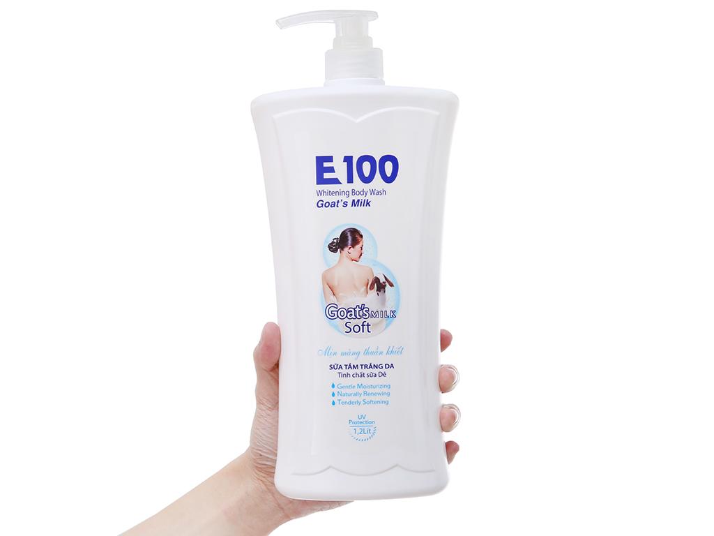 Sữa tắm trắng da E100 tinh chất sữa dê 1.2 lít 4