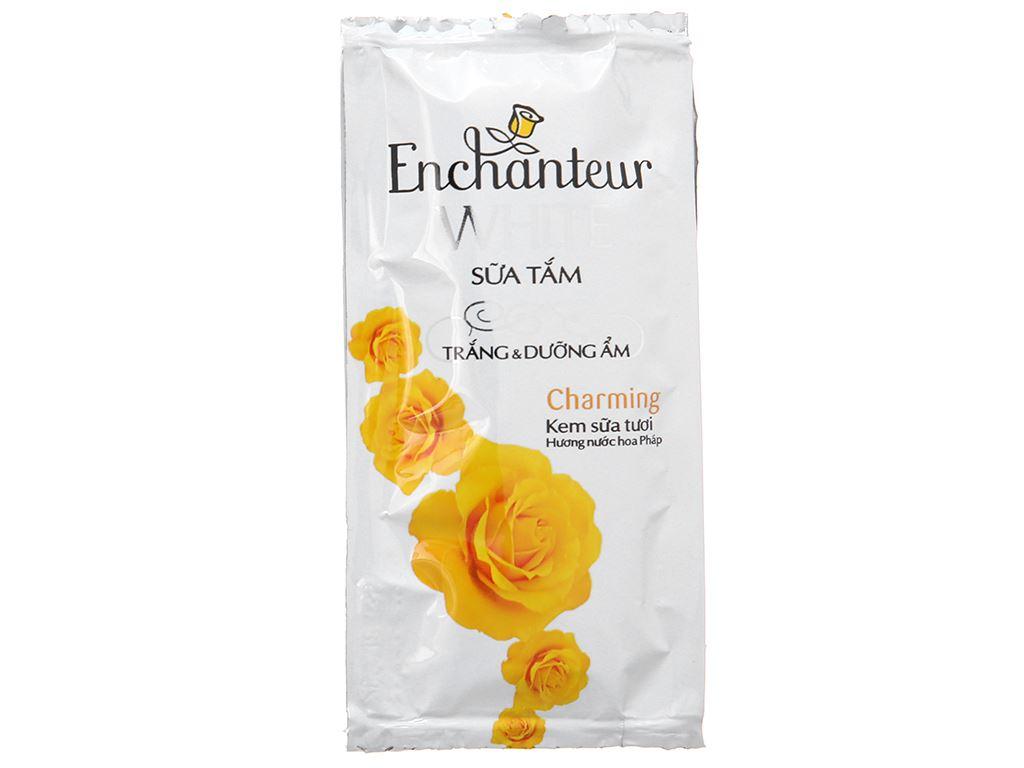 Sữa tắm trắng và dưỡng ẩm có hạt Enchanteur Deluxe Charming 6g x 10 gói 2
