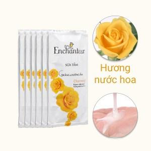 Sữa tắm trắng và dưỡng ẩm có hạt Enchanteur Deluxe Charming 6g x 10 gói