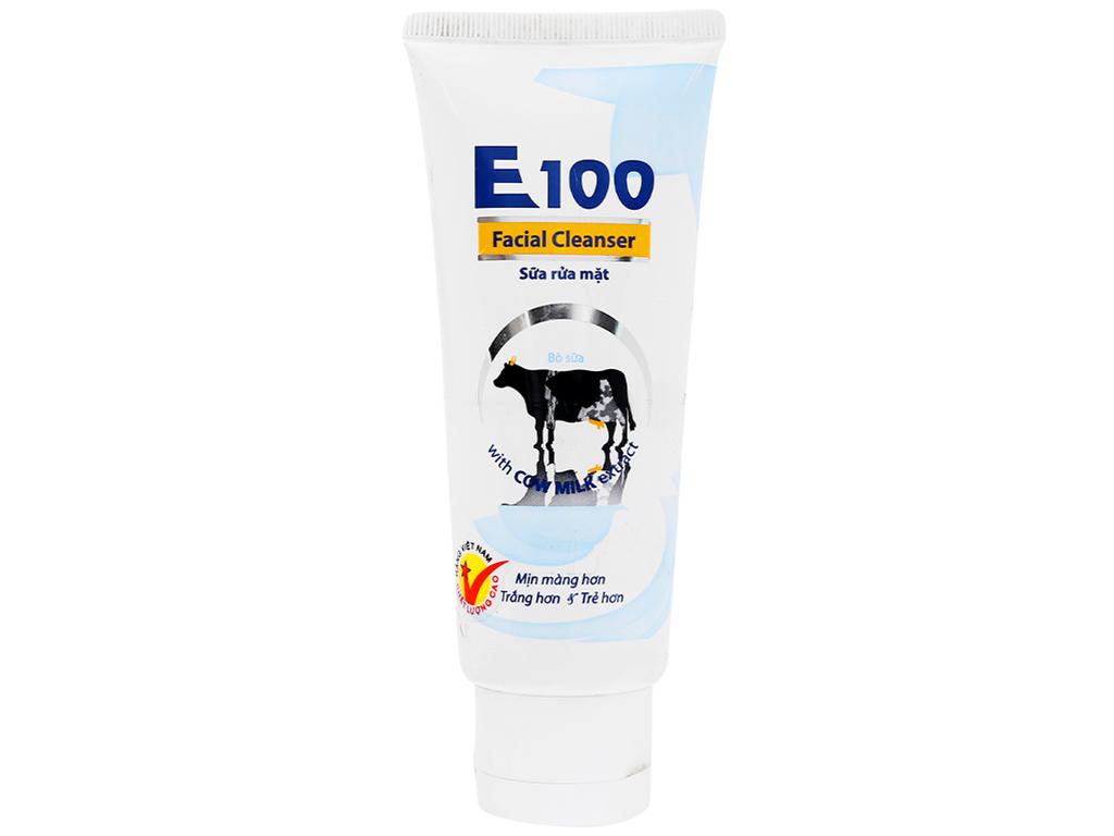 Sữa tắm trắng da E100 tinh chất sữa dê 800ml 6