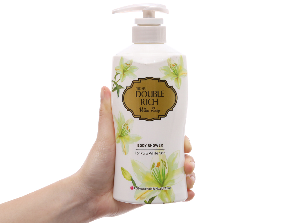 Sữa tắm trắng da hoa lily Double Rich White Purity 350g 4