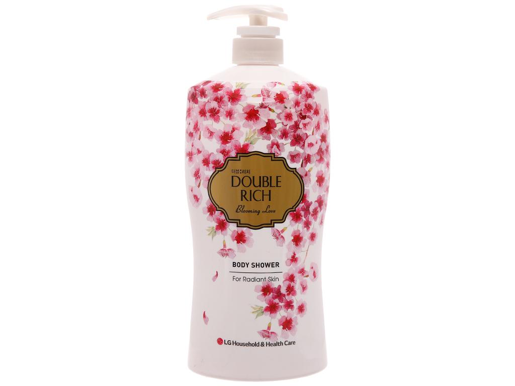 Sữa tắm hoa anh đào Double Rich Blooming Love 800g 2