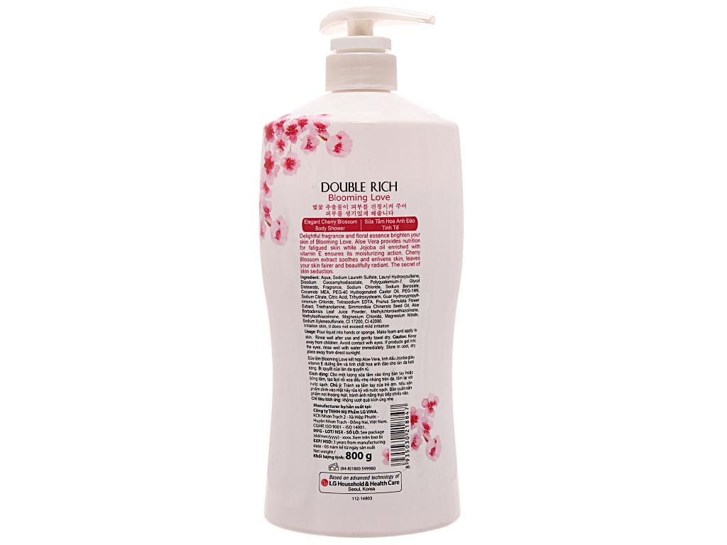 Sữa tắm hoa anh đào Double Rich Blooming Love 800g 3