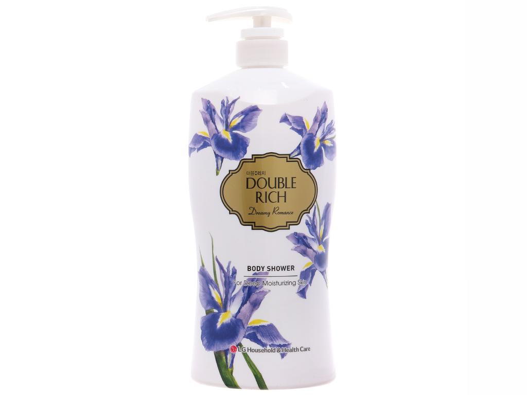 Sữa tắm hoa iris Double Rich Dreamy Romance 800g 2