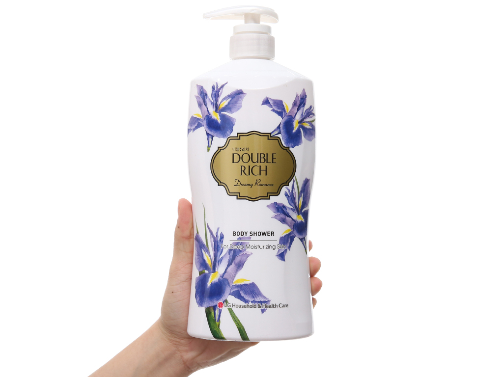 Sữa tắm hoa iris Double Rich Dreamy Romance 800g 4