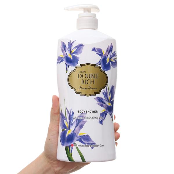 Sữa tắm hoa Iris Double Rich Dreamy Romance 800g