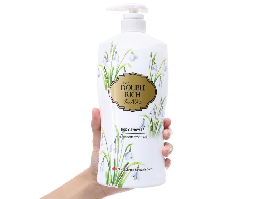 Sữa tắm hoa xuyên tuyết trắng mịn Double Rich Snow White 800g 4
