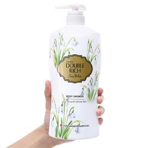 Sữa tắm hoa xuyên tuyết trắng mịn Double Rich Snow White 800g