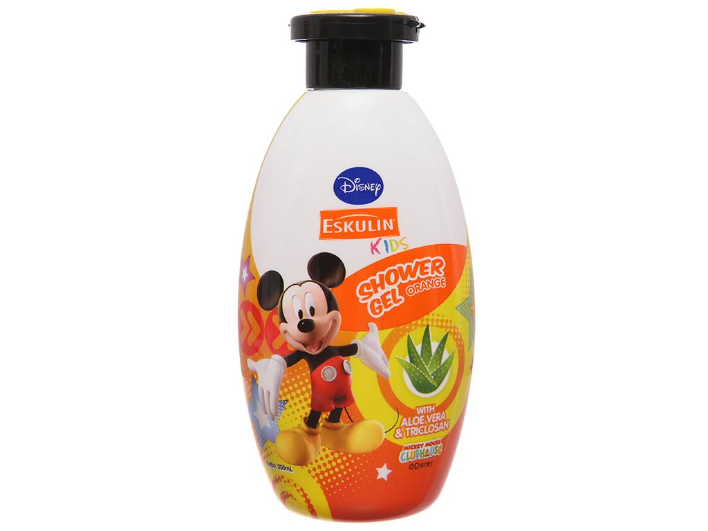 Gel tắm cho bé Eskulin Kids Mickey cam 250ml 2