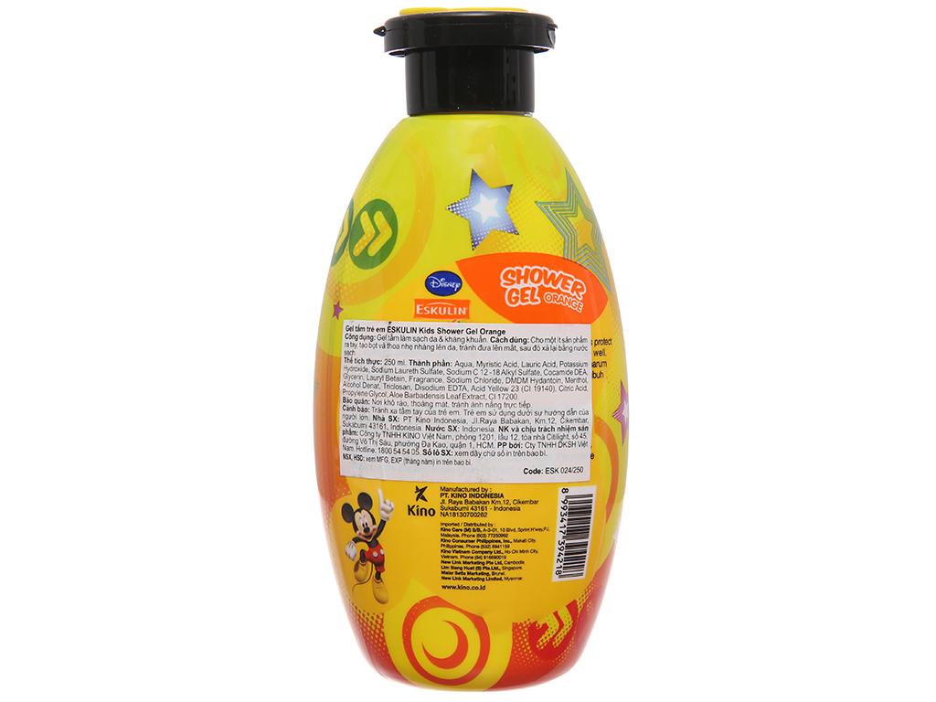 Gel tắm cho bé Eskulin Kids Mickey cam 250ml 3