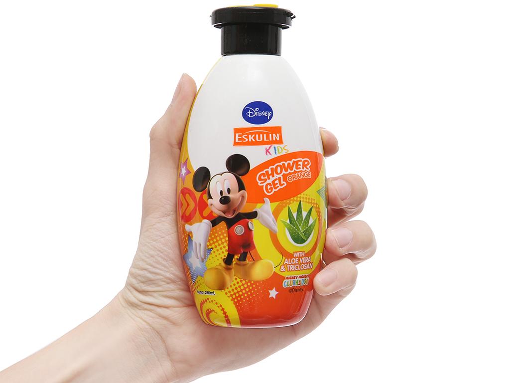 Gel tắm cho bé Eskulin Kids Mickey cam 250ml 4