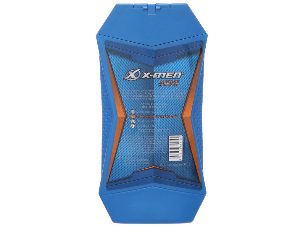 Sữa tắm nước hoa X-Men Active 380g 3