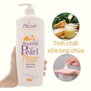 Sữa tắm Elizzer Natural sữa ong chúa và ngọc trai 1 lít
