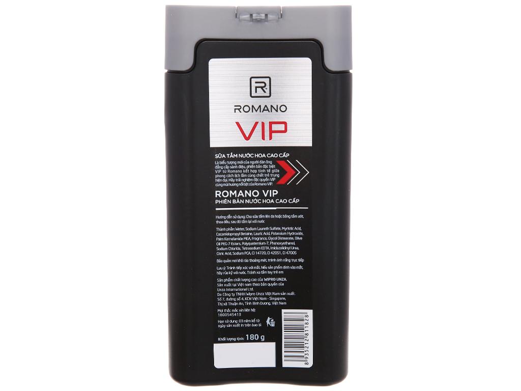 Sữa tắm nước hoa cao cấp Romano Vip 180g 4