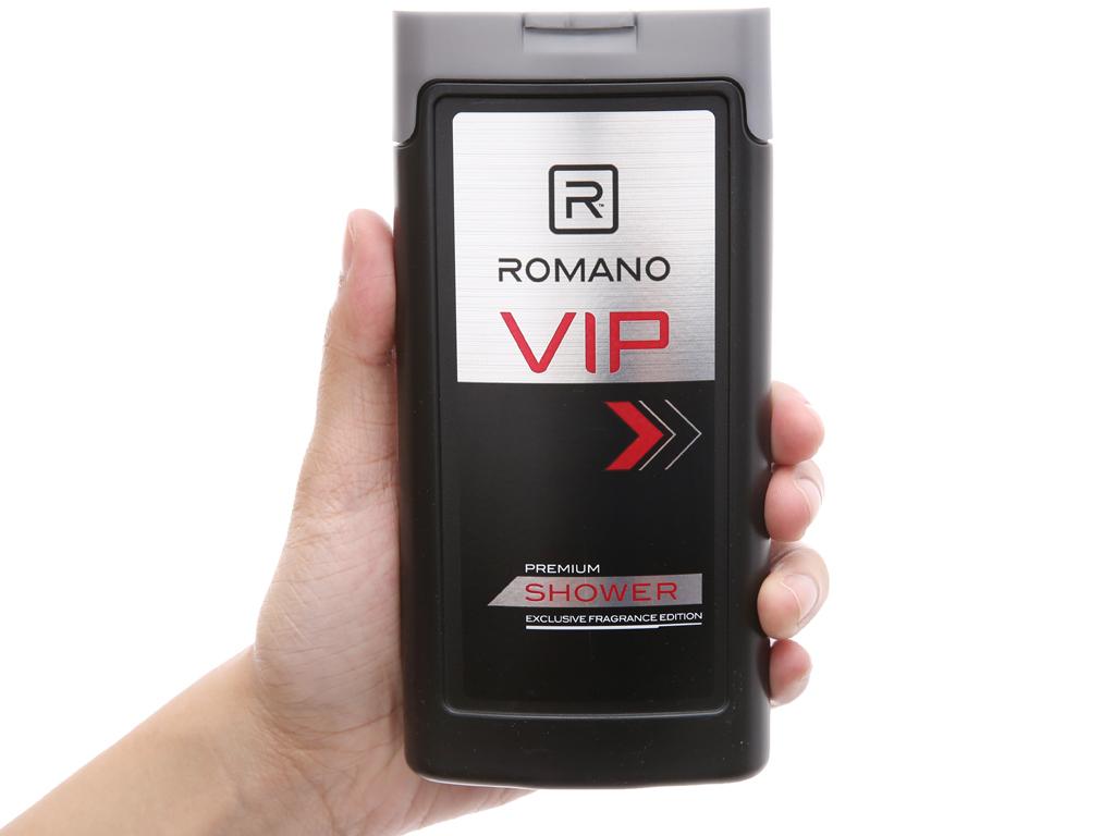 Sữa tắm nước hoa cao cấp Romano Vip 180g 5