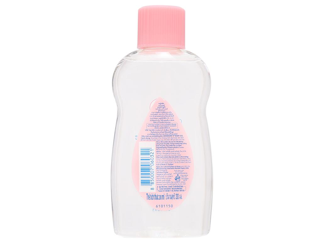Dầu mát-xa và dưỡng ẩm Johnson's Baby oil 200ml 3