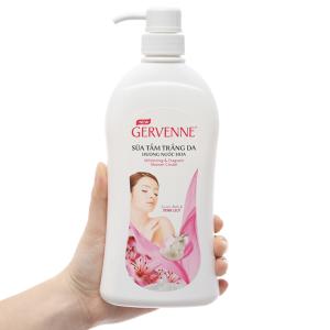 Sữa tắm Gervenne trắng da hương nước hoa lily hồng 450g