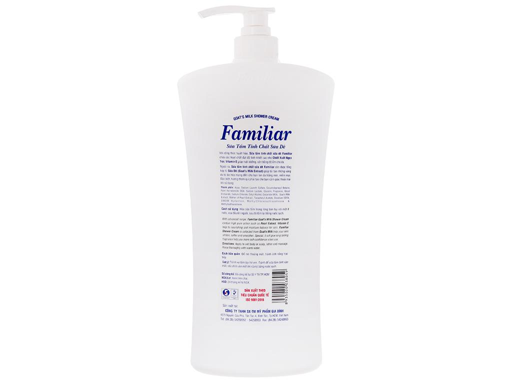 Sữa tắm tinh chất sữa dê Familiar 1.2l 3