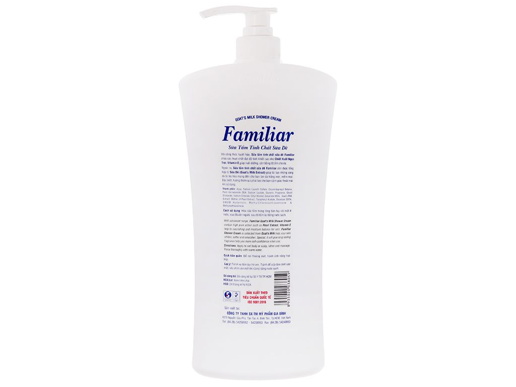 Sữa tắm tinh chất sữa dê Familiar 1.2 lít 3