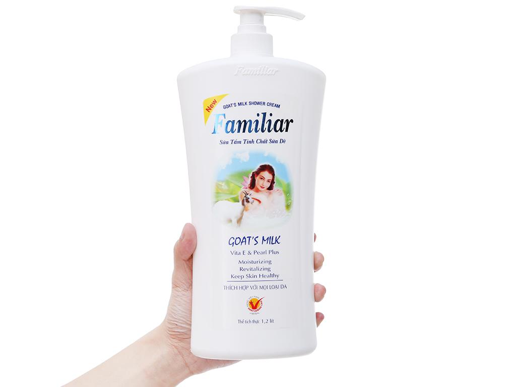 Sữa tắm tinh chất sữa dê Familiar 1.2 lít 4