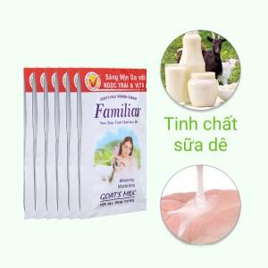 Sữa tắm tinh chất sữa dê Familiar 5ml x 10 gói