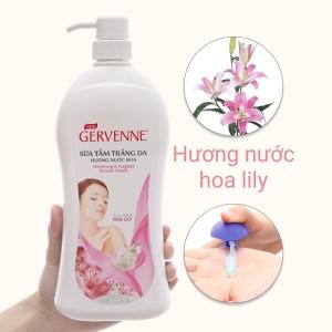 Sữa tắm trắng da Gervenne hương nước hoa Lily hồng 900g