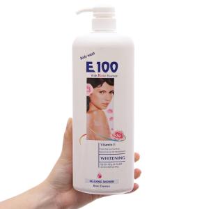 Sữa tắm trắng da E100 tinh chất hoa hồng 1.1l