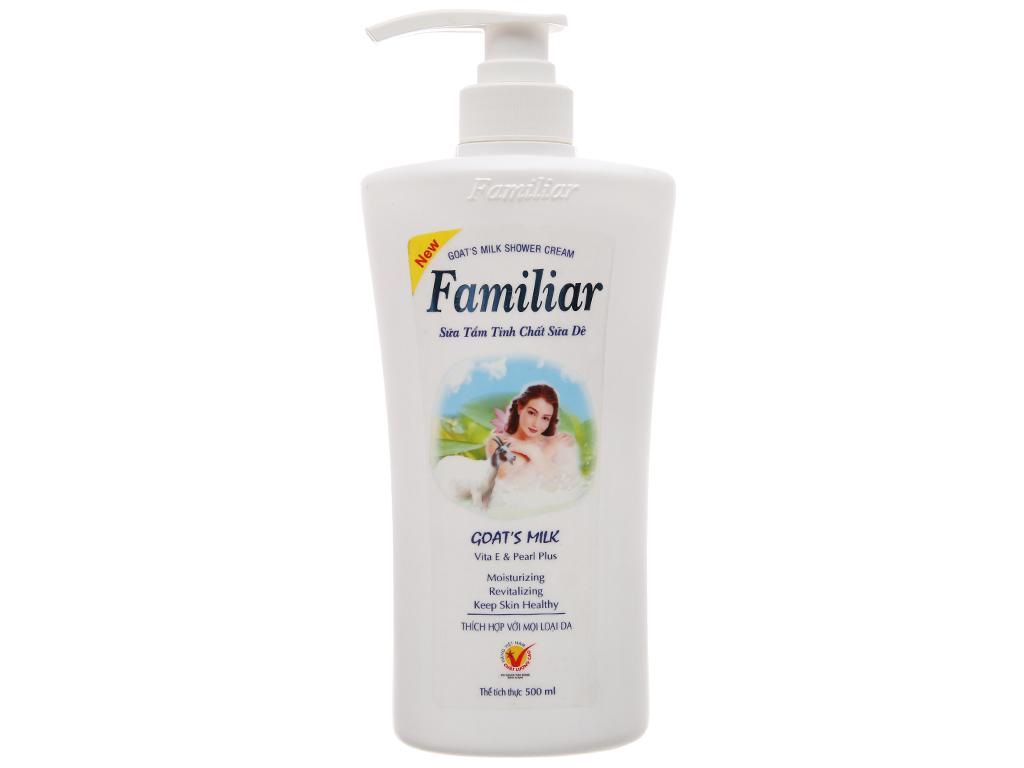 Sữa tắm Familiar tinh chất sữa dê 500ml 2