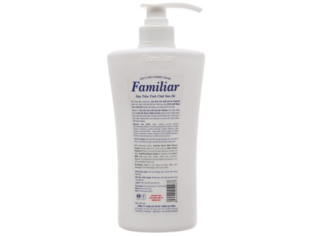 Sữa tắm Familiar tinh chất sữa dê 500ml 3