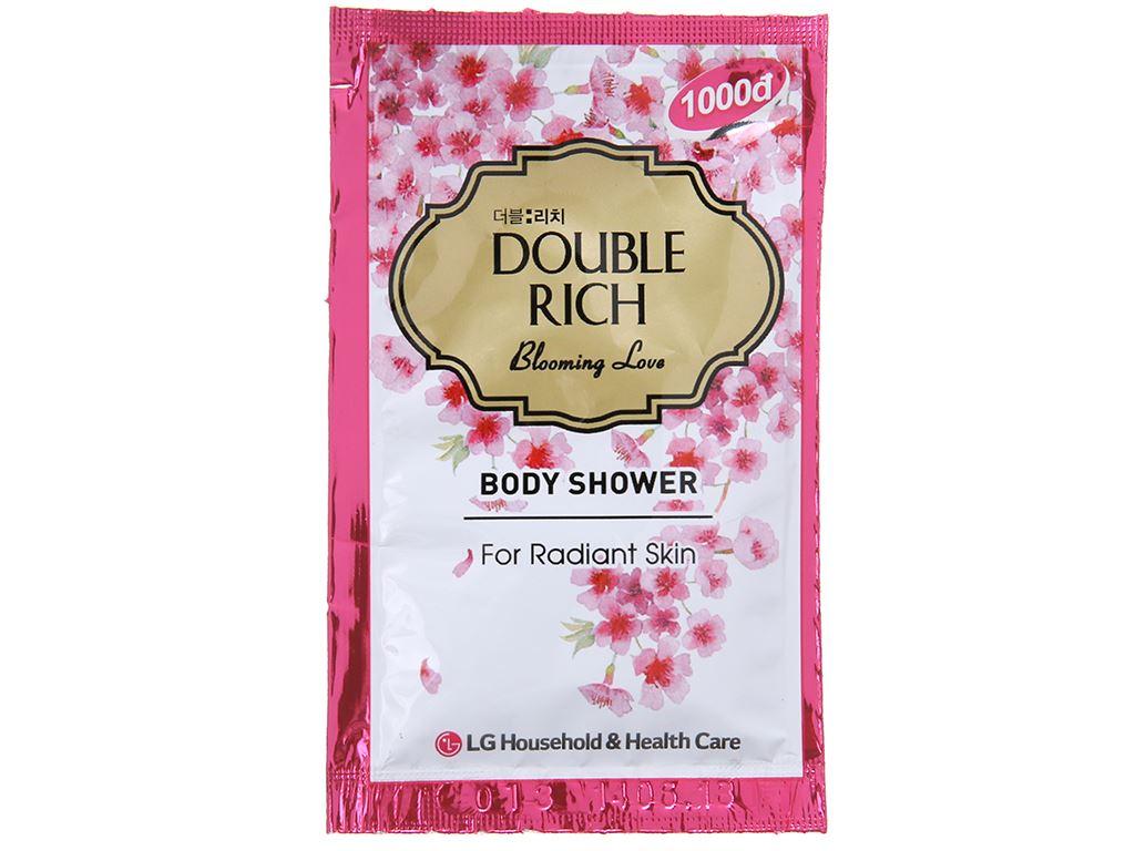Sữa tắm hoa anh đào Double Rich Blooming Love 7g x 10 gói 2