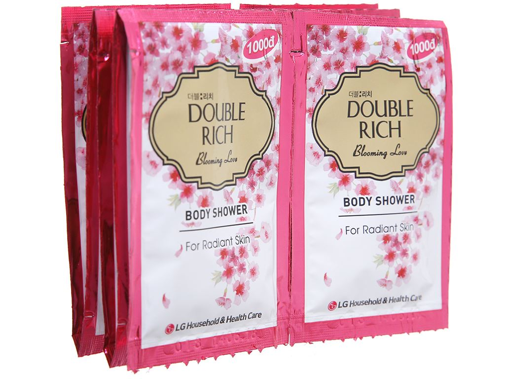 Sữa tắm hoa anh đào Double Rich Blooming Love 7g x 10 gói 4