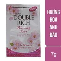 Sữa tắm trắng da Double Rich hương Hoa anh đào gói 7g (10 gói)